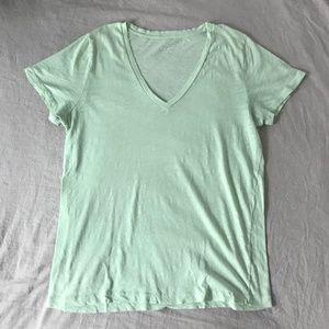 J.Crew Vintage Cotton Tee, Light Green, XL